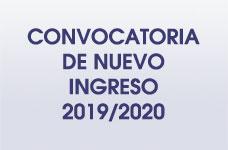 Nuevo Ingreso 2019 - 2020