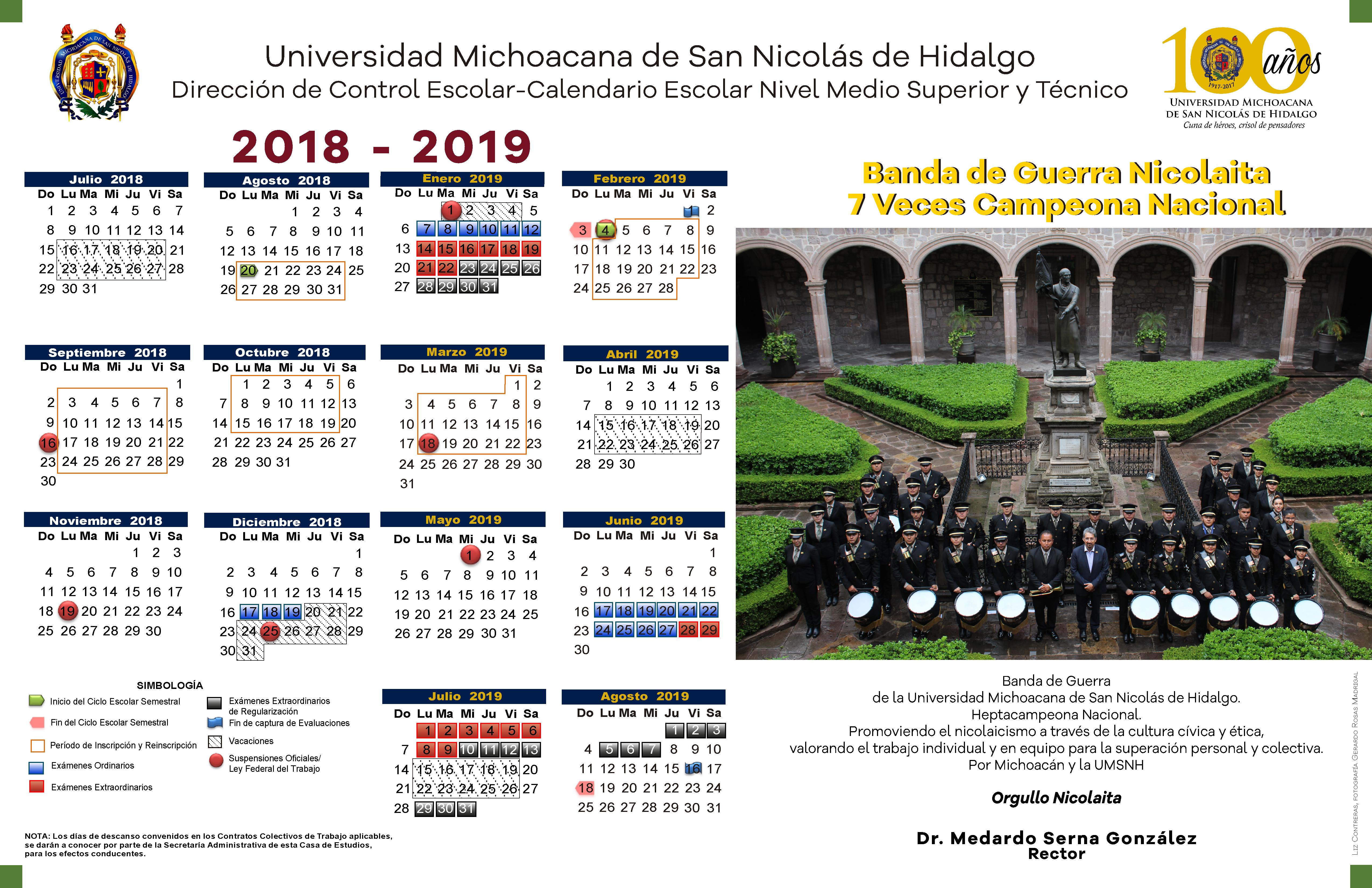 Calendario Universitario.Calendario Escolar 2016 2017